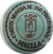 20 Centimos (Maella) – obverse
