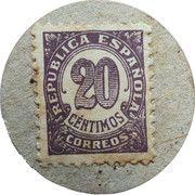 20 Centimos (Maella) – reverse