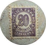 20 Centimos (Seo de Urgel) – reverse