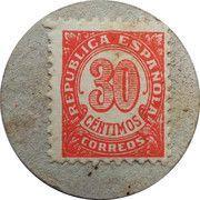 30 Centimos (Totana) – reverse