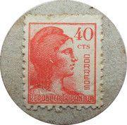 40 Centimos (Arbucies) – reverse