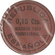 15 Centimos (Madrid) – reverse
