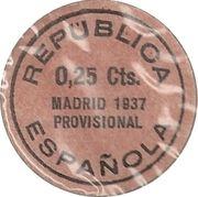 25 Centimos (Madrid) – reverse
