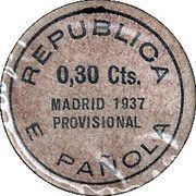 30 Centimos (Madrid) – reverse