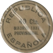 40 Centimos (Madrid) – reverse