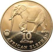 10 Shillings (African Elefant) – reverse