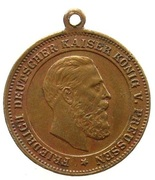 Friedrich III memorial token – obverse