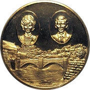 Medal - Prince and Princess of Wales in Japan – obverse