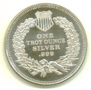 1 oz silver (Seated Liberty) – reverse