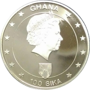 100 Sika (21st birthday of H.R.H. Prince William) – obverse