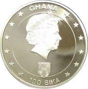 100 Sika - Elizabeth II (21st birthday of H.R.H. Prince William) – obverse