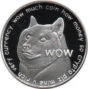 1 oz silver (100 Dogecoins) – obverse