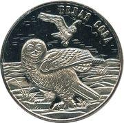 25 Roubles (Snowy owl) – reverse