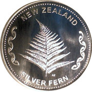 1 oz Slver (Silver Fern) – obverse