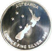 1 oz Slver (Silver Fern) – reverse