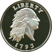 2 oz silver (America's Legendary Coins - 1793 Liberty Large Cent) – obverse