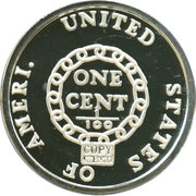 2 oz silver (America's Legendary Coins - 1793 Liberty Large Cent) – reverse