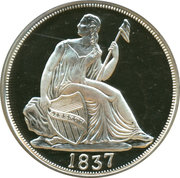 2 oz silver (America's Legendary Coins - 1837 Liberty Seated Dime) – obverse