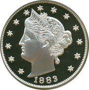 2 oz silver (America's Legendary Coins - 1883 Liberty V Nickel) – obverse