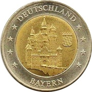 2 (Germany Euro Fantasy Token; Bayern) – obverse