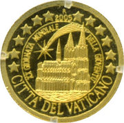 5 Dollars (Vatican Euro) – reverse