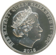 5 Pounds - Elizabeth II (4th portrait; Three Graces) – obverse