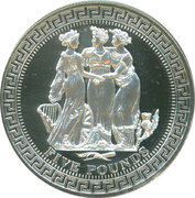 5 Pounds - Elizabeth II (4th portrait; Three Graces) – reverse