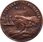 Medallion - Centenary of Victoria 1934; Centenary of Melbourne, 1935  – obverse