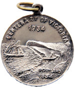 Medallion - Centenary of Victoria 1934; Centenary of Melbourne 1935 – obverse