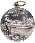 Centenary of Victoria 1934; Centenary of Melbourne, 1935 Medallion – reverse