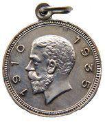 Medallion - 1935 Jubilee of King George V - Hobart Tasmania – obverse