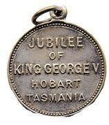 Medallion - 1935 Jubilee of King George V - Hobart Tasmania – reverse
