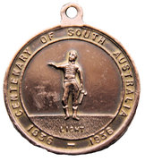 Medal - Centenary of South Australia 1836-1936 – obverse