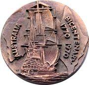 Medallion - Captain Cook's Bi-centenary – reverse