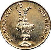 1983 America's Cup Winner  Medallion – obverse