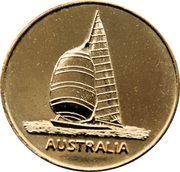 1983 America's Cup Winner  Medallion – reverse