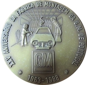 Medal - 25th Anniversary of the GM factory in Portugal – obverse