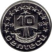 10 Centecu - Beatrix (de Nederlanden) -  obverse
