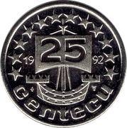 25 Centecu - Beatrix (De Nederlanden) -  reverse