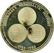 Medallion - Australia's Numismatic History – reverse