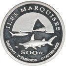 500 Francs (Marquesas Islands) – reverse