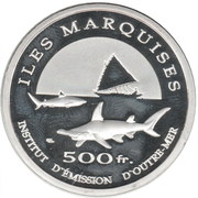 500 Francs (Marquesas Islands) – reverse