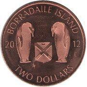 2 Dollars (Borradaile island) – obverse
