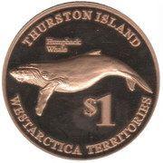 1 Dollar (Thurston island) – reverse