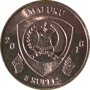 5 Rupees (Centropyge bicolor) – obverse