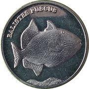 5 Rupees (Balistes Fuscus) – reverse