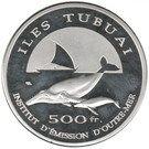500 Francs (Tubuai Islands) – reverse