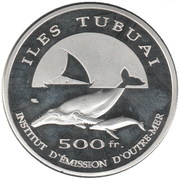 500 Francs (Tubuai Islands) – reverse