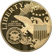 1849 Gold Double Eagle medal – obverse