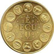 1 ECU (Europa; 12 countries) – reverse